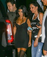 Kourtney Kardashian enjoyed a night out in Miami wearing a super-tight LBD.