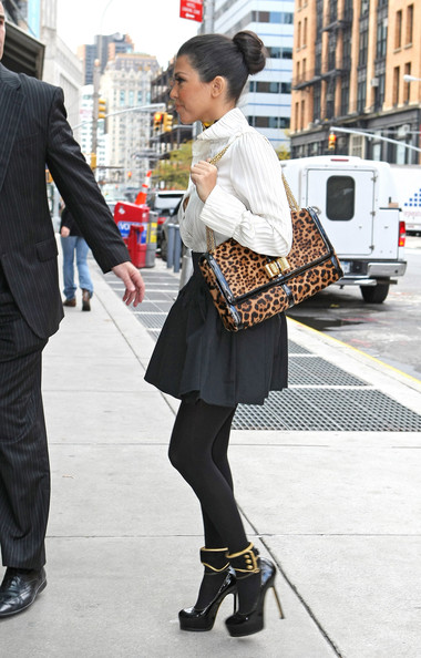 Kourtney Kardashian Printed Shoulder Bag