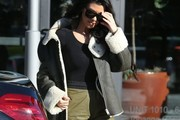 Kourtney Kardashian Suede Jacket