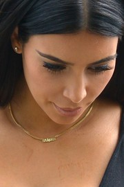 Kim Kardashian Gold Nameplate Necklace