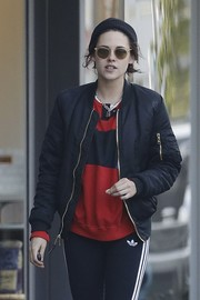 Kristen Stewart accessorized with a pair of round shades for a stroll in Beverly Hills.