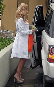 Pregnancy will not slow Kristin down from wearing platform pumps.