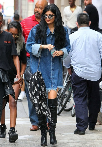 Kylie Jenner Over the Knee Boots []