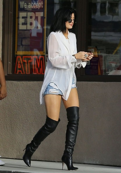 Kylie Jenner Button Down Shirt [pictures,leg,thigh,human leg,white,clothing,footwear,boot,fashion,beauty,knee,kylie jenner,shamari maurice,fashion,clothing,beau,boot,seat,malibu,california,thigh-high boots,boot,fashion,celebrity,over-the-knee boot,clothing,shoe,dress]