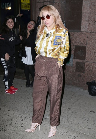 Lady Gaga High-Waisted Pants []