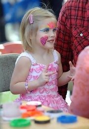 Dannielynn Birkhead spent Valentine's Day at a carnival getting her face painted in vibrant colors.