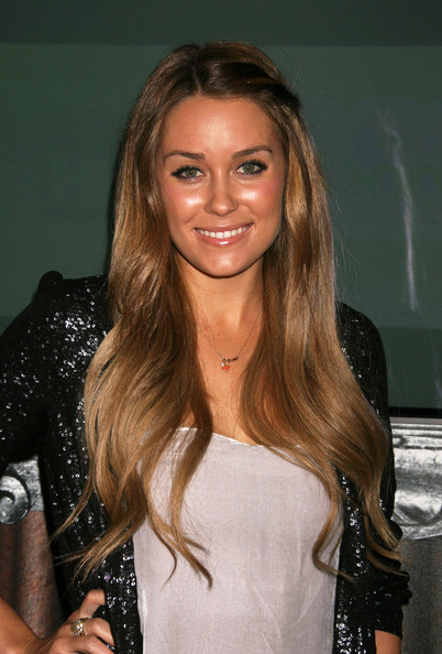 Lauren Conrad and Isla Fisher like the plait trend halfway, adding a stylish