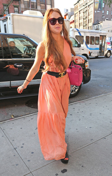 Lindsay Lohan Evening Dress