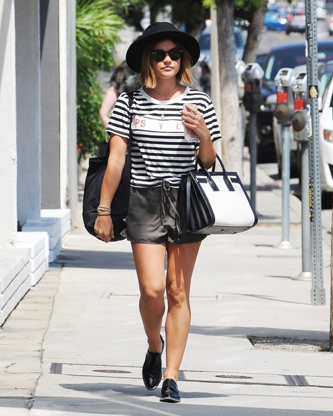 Lucy Hale Leather Tote []