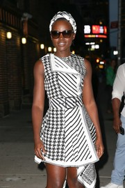 Lupita Nyong'o left 'The Late Show with Stephen Colbert' wearing classic cateye sunnies.
