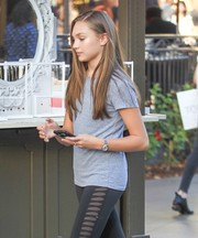 Maddie Ziegler accessorized with a stylish silver watch while out and about in LA.