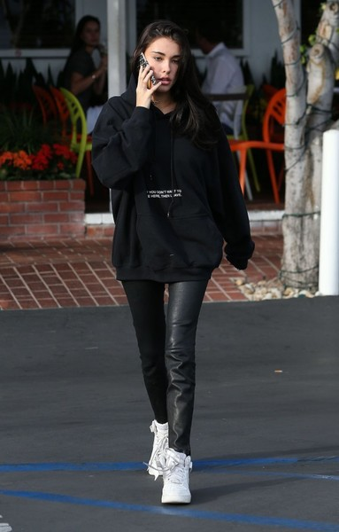 Madison Beer Leather Pants []