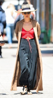 Maggie Q made harem pants look oh-so-cool!