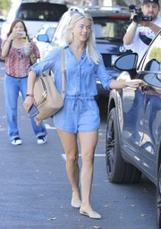 Julianne Hough was a cutie in a blue Velvet Heart romper while shopping in West Hollywood.