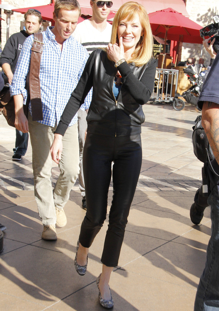more pics of marg helgenberger leather jacket  5 of 11