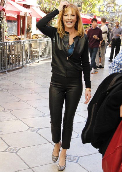 More Pics Of Marg Helgenberger Leather Jacket 2 Of 11