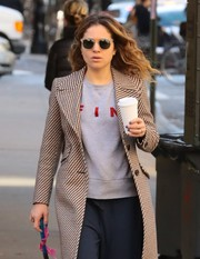 Margarita Levieva accessorized with a pair of square shades while out and about in New York City.