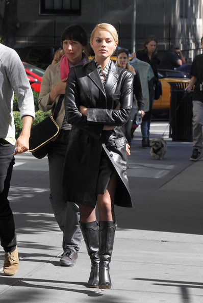 Margot Robbie Leather Coat