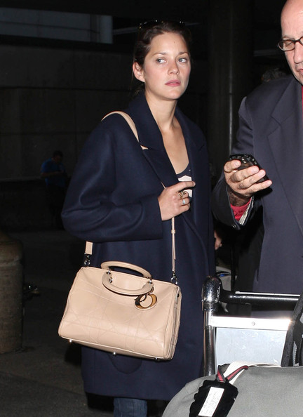 More Pics of Marion Cotillard Leather Bowler Bag (1 of 12) - Marion Cotillard Lookbook - StyleBistro