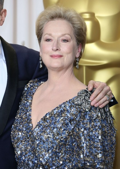 Meryl Streep Dangling Diamond Earrings