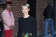 Mia Wasikowska Knee Length Skirt