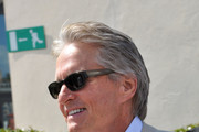 Michael Douglas Rectangular Sunglasses