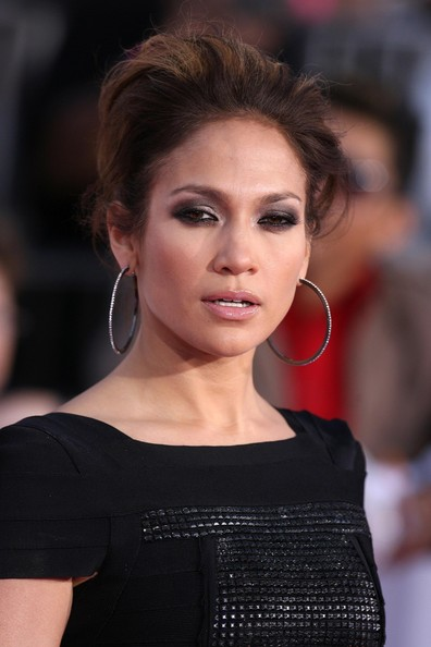 More Pics of Jennifer Lopez Diamond Hoops (1 of 9) - Jennifer Lopez Lookbook - StyleBistro