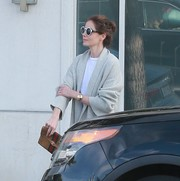 Michelle Monaghan showed off an oversized gold bracelet while out and about in Beverly Hills.