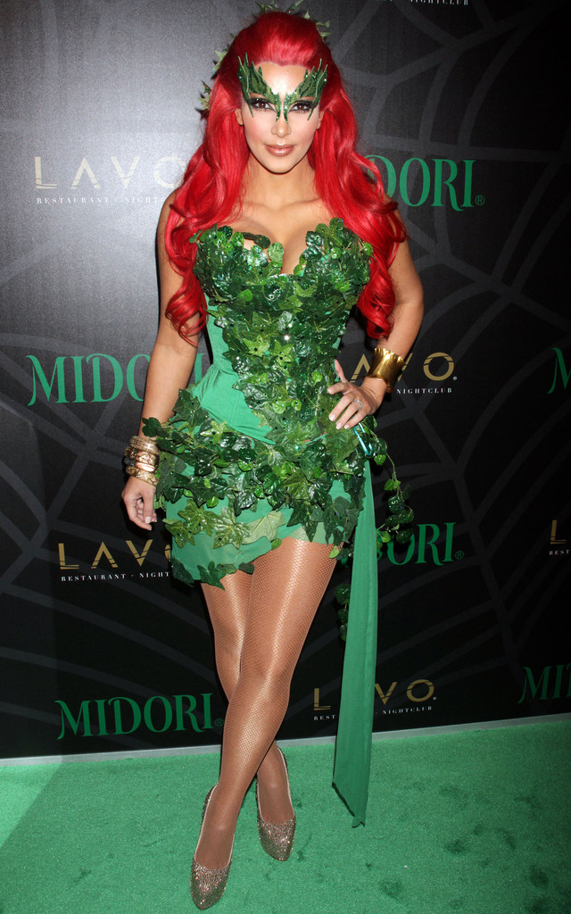 Kim Kardashian as Poison Ivy - The Best Celebrity Halloween Costumes Youu0027ll Want to Copy - StyleBistro  sc 1 st  StyleBistro & Kim Kardashian as Poison Ivy - The Best Celebrity Halloween Costumes ...