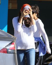 Mila Kunis was casual and comfy in a long-sleeve white tee while out in Studio City.