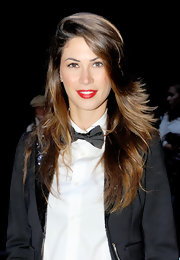 Melissa Satta's layered hair had a fun '70s vibe.