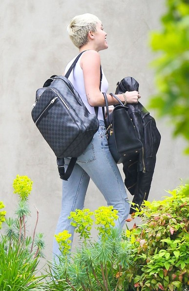 More Pics of Miley Cyrus Designer Backpack  (2 of 8) - Backpacks Lookbook - StyleBistro []