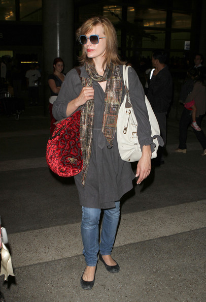 Milla Jovovich Printed Shoulder Bag