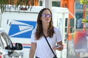 Minka Kelly V-Neck Tee