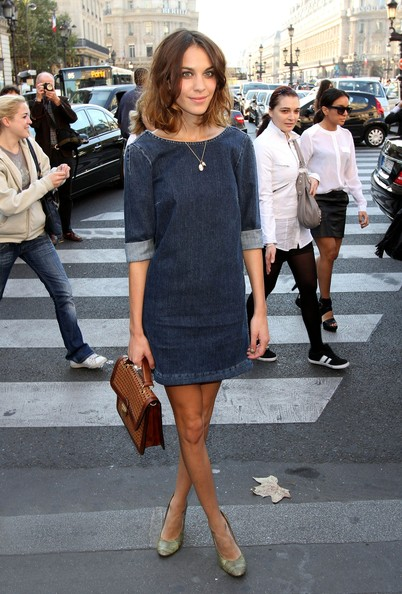 Alexa+Chung in Miranda Kerr Attending Stella McCartney Fashion Show