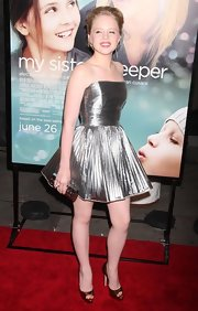 Sofia Vassilieva dazzled the crowd in a silver strapless mini dress at the New York premiere of 'My Sister's Keeper.'