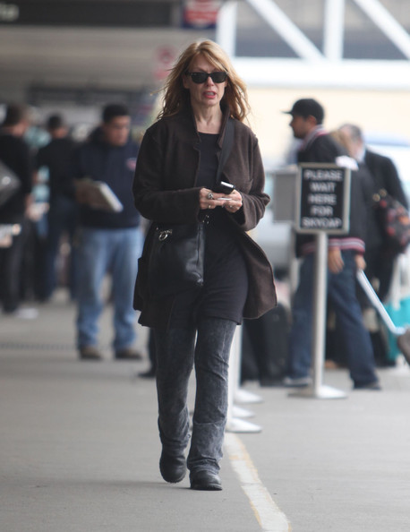 Nancy Wilson Departing On A Flight At LAX