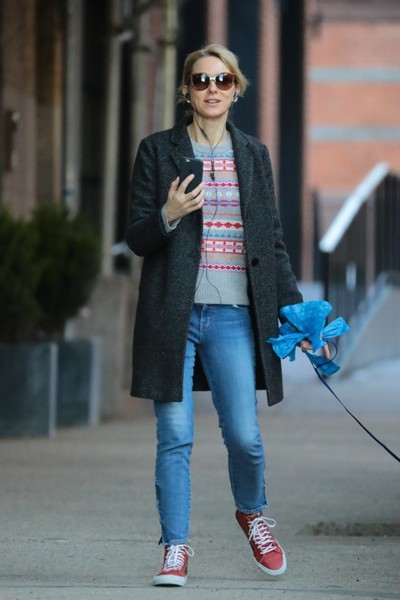 Naomi Watts Leather Sneakers