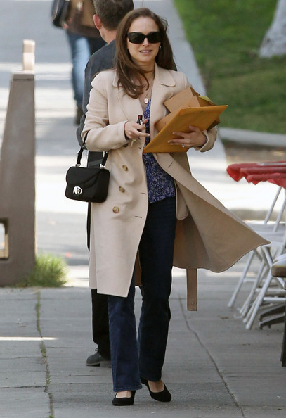 Natalie Portman Wool Coat