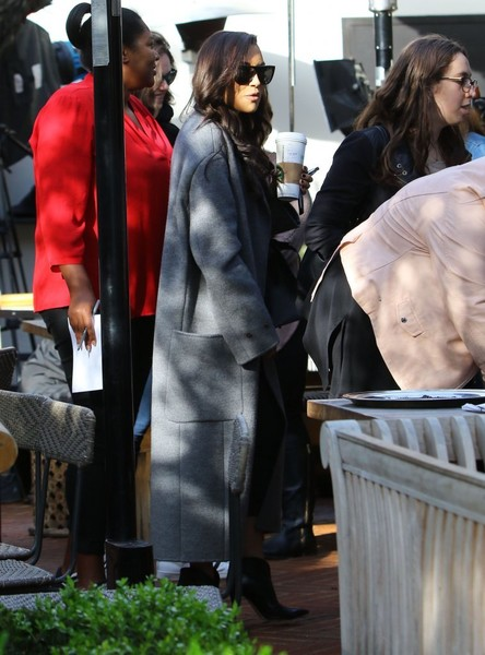 Naya Rivera Wool Coat