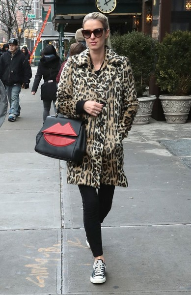 Nicky Hilton Fur Coat
