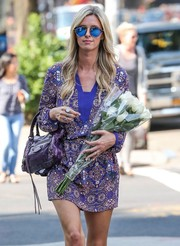 Nicky Hilton looked cool in her mirrored blue shades while out and about in New York City.