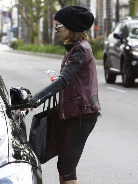 More Pics of Nicole Richie Leather Jacket (5 of 10) - Nicole Richie Lookbook - StyleBistro