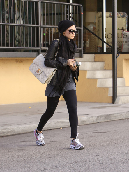Nicole Richie Quilted Leather