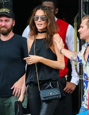 Nicole Trunfio showed off a luxurious Chanel leather bag while out in New York City.