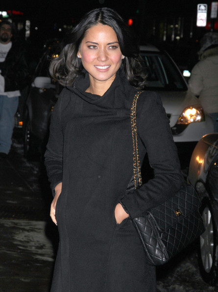 Olivia Munn Quilted Leather