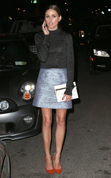 Olivia Palermo Printed Clutch