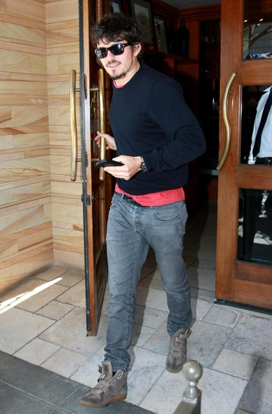 Orlando Bloom Leather Sneakers []