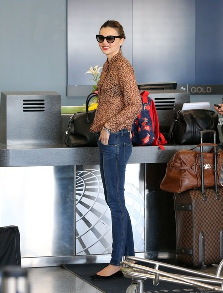 More Pics of Miranda Kerr Button Down Shirt (1 of 17) - Miranda Kerr Lookbook - StyleBistro