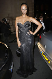 Tyra brought the drama in this gunmetal gown for Vogue's 90th Anniversary.